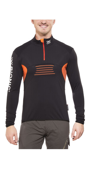 X-Bionic Ski Racoon LS Zip Up Shirt Men black/orange